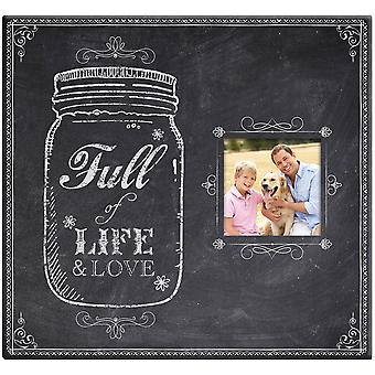 Full Of Life Mason Jar Post Bound Scrapbook with Window 12