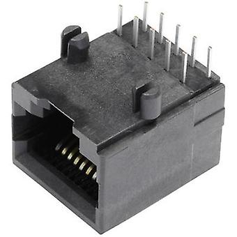 BEL Stewart Connectors SS64100-018F, Pin RJ48 Socket, horizontal mount Black