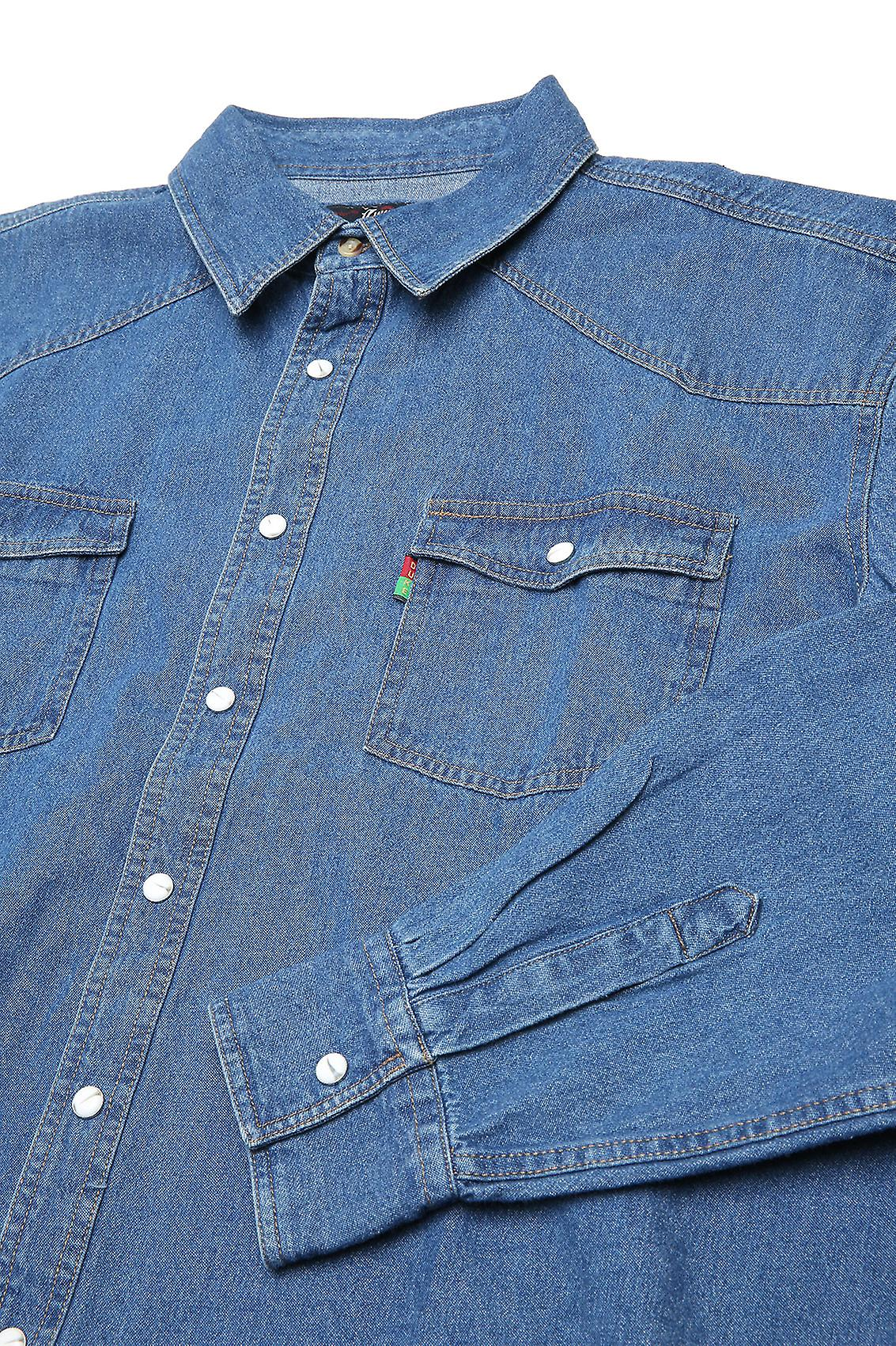 Duke London Stonewash Denim Shirt