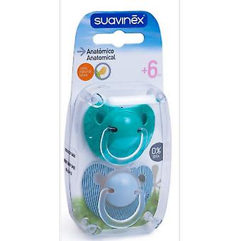 Suavinex Rubber Anatomic Pacifier 6M + 2 Units