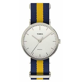 Timex Unisex Weekender Fairfax Navy Yellow Strap TW2P90900 Watch