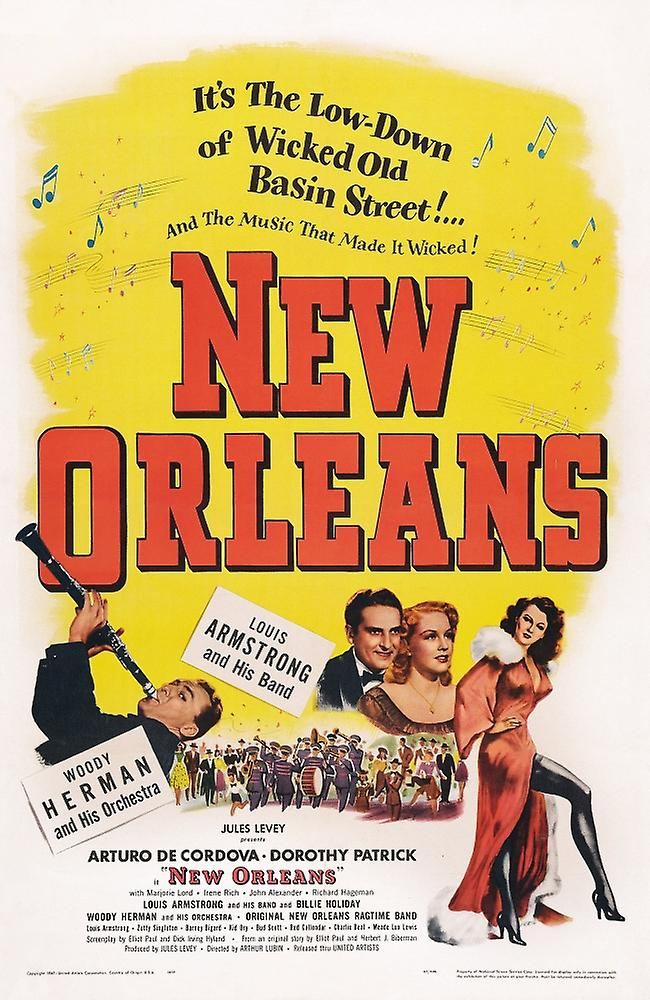 New Orleans Us Poster Art Left Woody Herman Center Couple Arturo De Cordova Dorothy Patrick 1947 Movie Poster Masterprint