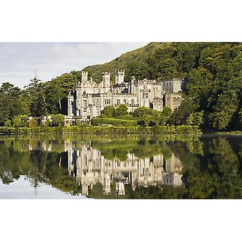 Kylemore Abbey County Galway Ireland Historic Irish Abbey By A Lake PosterPrint