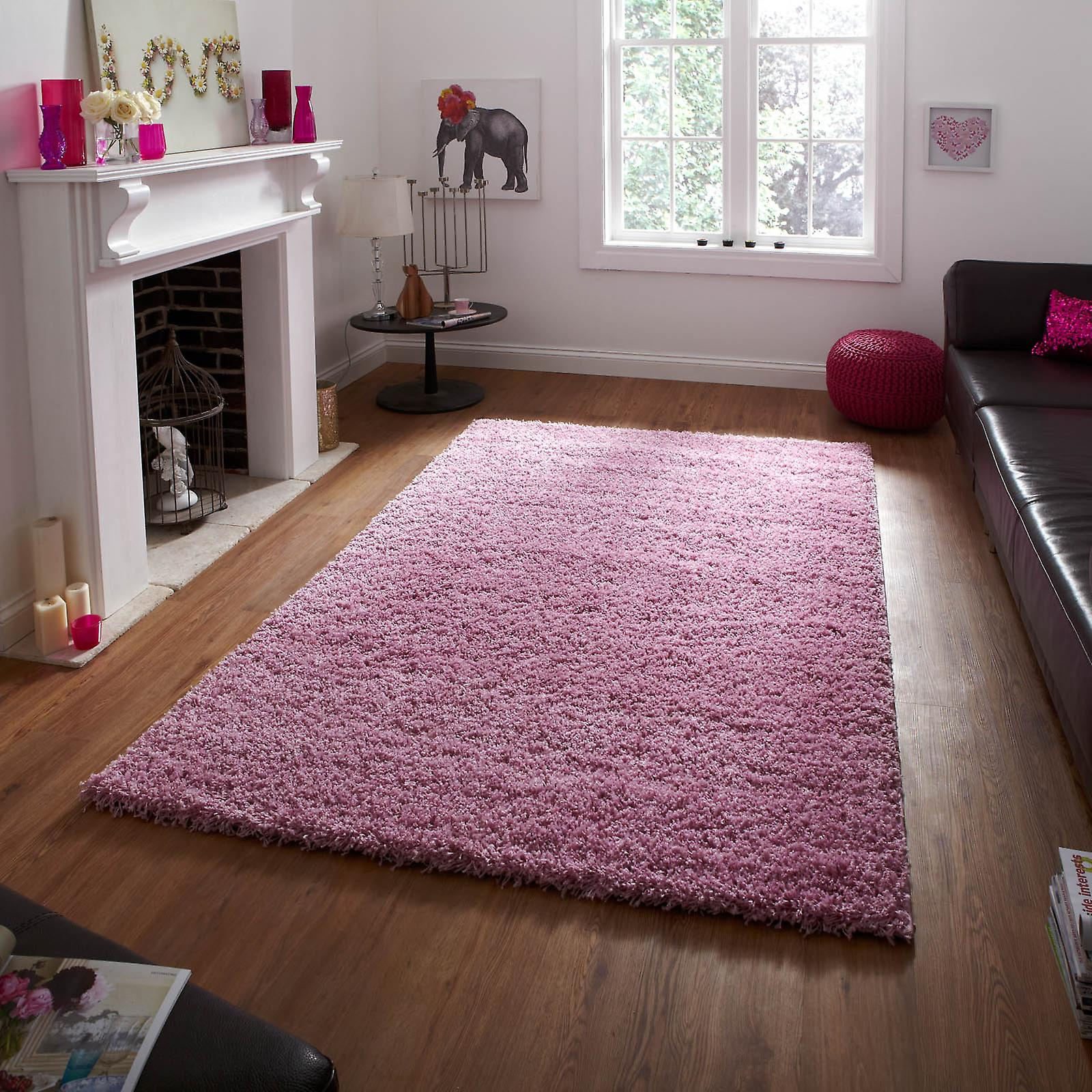Vista Shaggy Rugs 2236 Pink