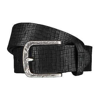 ALBERTO desert belts men's belts leather belt black 3941