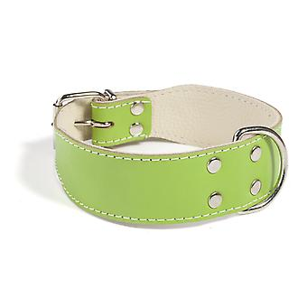 Doggy Things Plain Leather Dog Collar Green 60cm