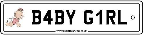 Baby Girl Numberplate Car Air Freshener