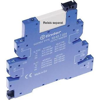 Relay socket + bracket, + LED, + EMC semsiion supressor 1 pc(s) Finder Compatible with series: Finder 34 series Finder