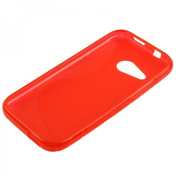 S-line red silicone case cover for HTC one mini 2 M5 2014