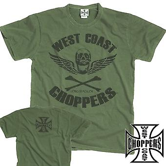 West Coast choppers T-Shirt Skull wings retro