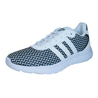 adidas Neo Cloudfoam Speed Womens Running Trainers / Shoes - White and Black