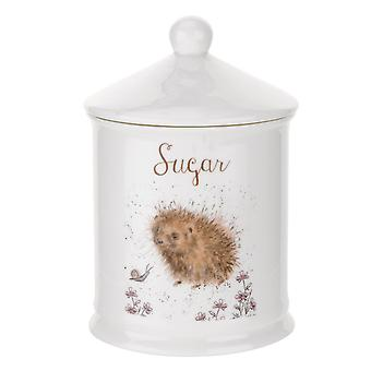 Royal Worcester Wrendale Designs Sugar Canister, Hedgehog