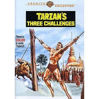 Tarzan's Three Challenges [DVD] USA import