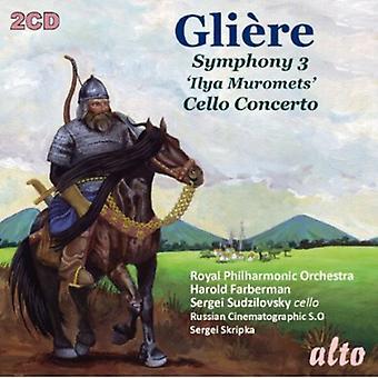 Royal Philharmonic Orchestra - Gli Re: Symphony No. 3 'Ilya Muromets'; Cello Concerto [CD] USA import