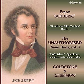 Schubert / Goldstone / Clemmow - uautoriseret klaver Duos 3 [CD] USA import