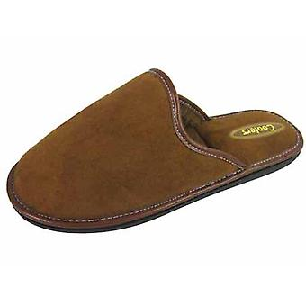 Mens Cooler Classic Slippers Bound Edge Microsuede Mule Slip On 341