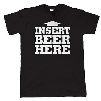 Vectorbomb, Insert Beer Here, Mens Funny T Shirt (S to 5XL)