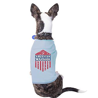 American Warrior Sky Blue 4th Of July Small Pets Tee Shirt Cotton