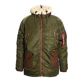 ALPHA INDUSTRIES N3-B3 Parka giacca | Verde scuro
