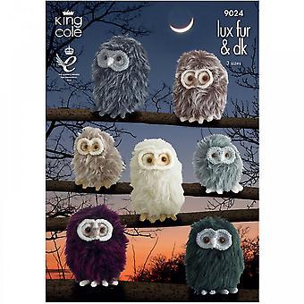 King Cole Pattern 9024 - Luxe Fur & DK Baby Owls