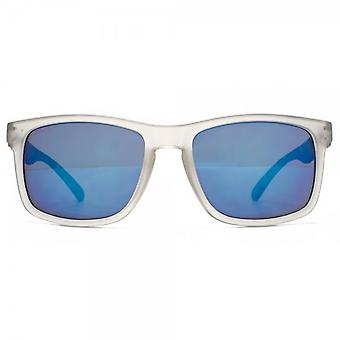 M:UK Dalston Rectangle Sunglasses In Crystal Clear