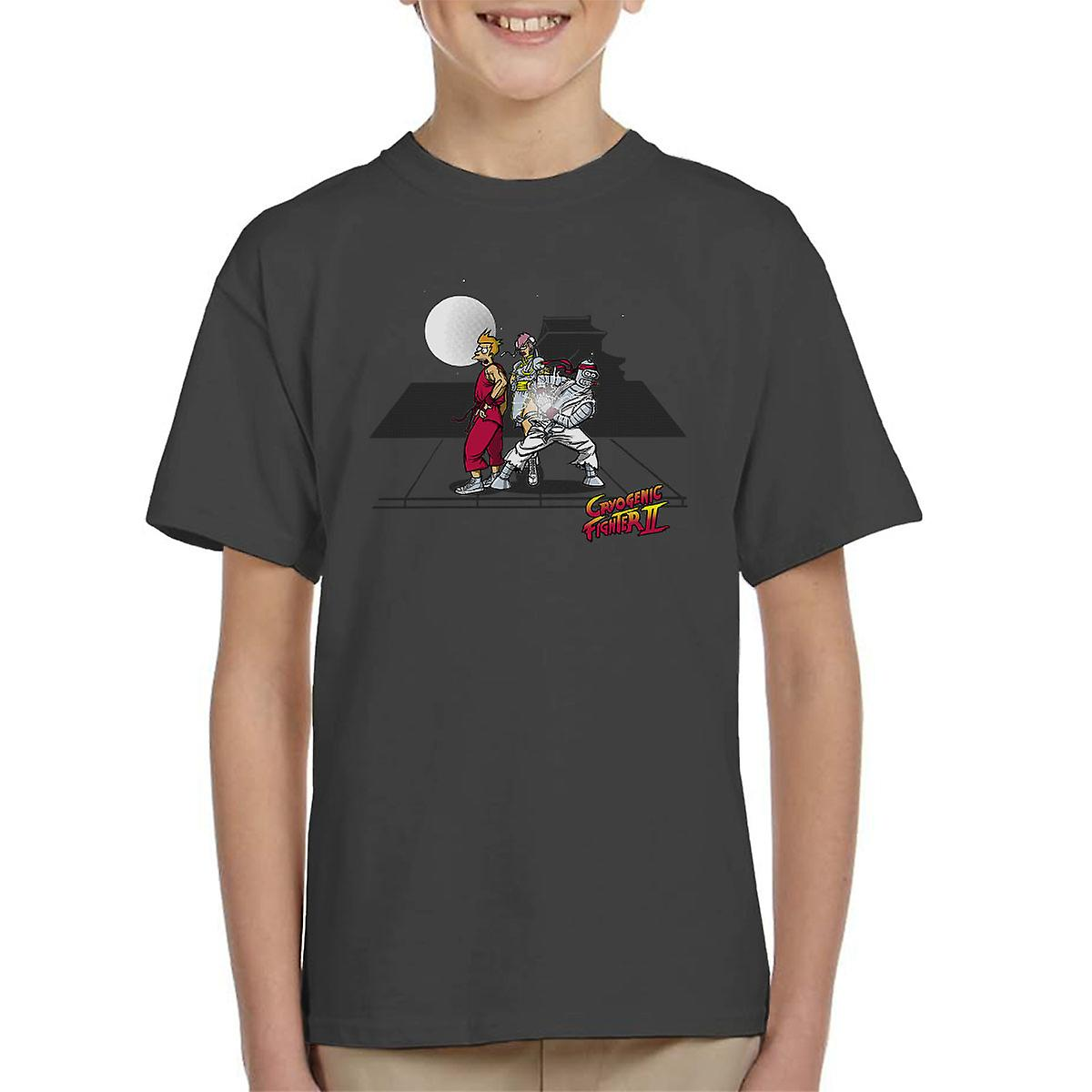 Cryogenic Fighter II Futurama Street Fighter Kid's T-Shirt