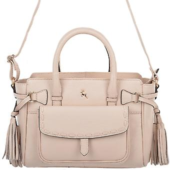 Ashwood Small Leather Handbag With Purse Pocket - 61511 Lychee