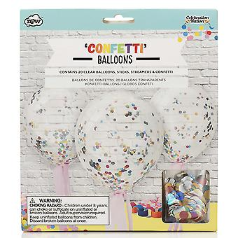 NPW Celebration Nation Confetti Balloons