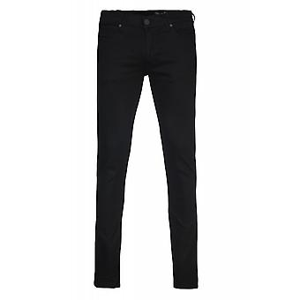 Wrangler Lars tone trousers mens jeans black slim tapered