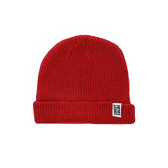 Sweet SKTBS ribbed Beanie knit Cap red ribbed style