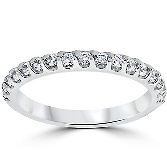 1 / 2ct Prong Diamond trouwring 14K White Gold