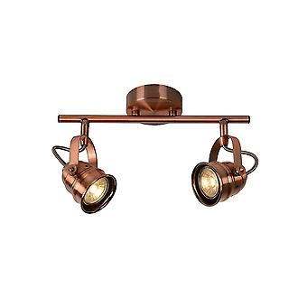 Lucide CIGAL Quirky Adjustable Semi Flush Ceiling Spotlight 2 Light