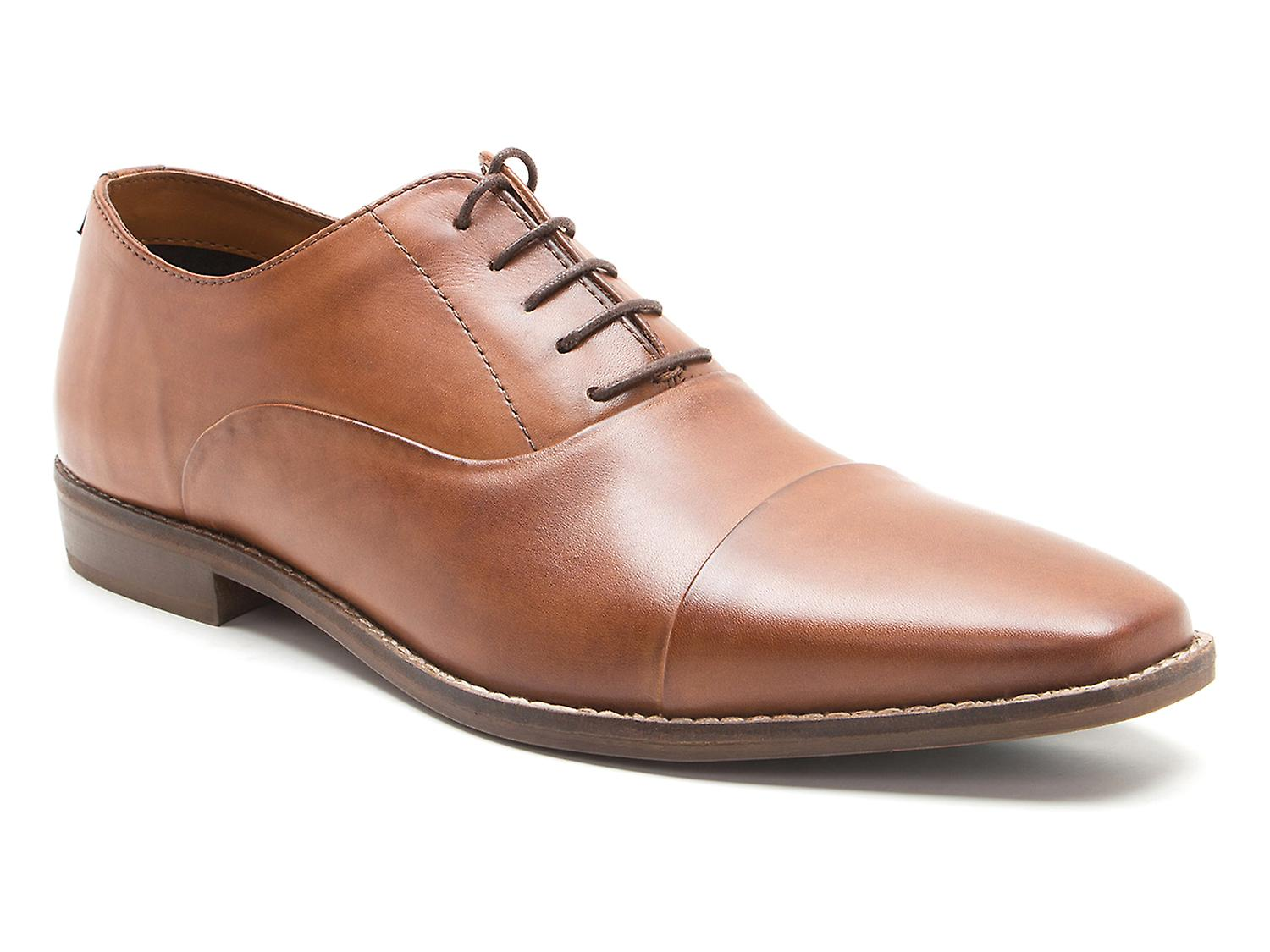 rosso Tape Stanton Tan Men& 039;s Leather Lace-Up Formal scarpe | Prima il cliente