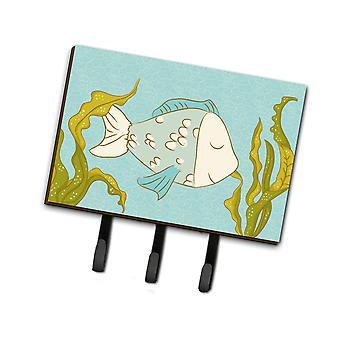 Carolines tesoros BB8545TH68 pescado azul correa o llavero