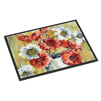 Flowers by Fiona Goldbacher Indoor or Outdoor Mat 24x36
