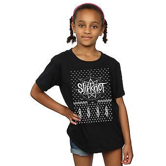 Slipknot niñas 9 puntos Navidad t-shirt