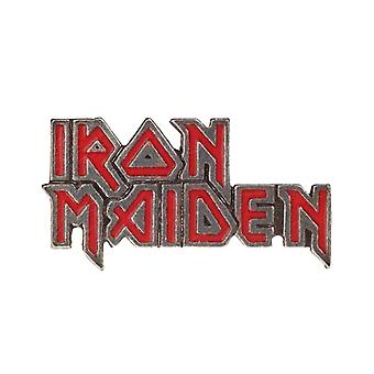 Iron Maiden Lapel Badge Enamelled classic band Logo new Official Alchemy Silver
