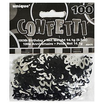 Unique Party Black 100th Birthday Confetti