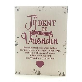 木製本文ボード「親愛なる友人」