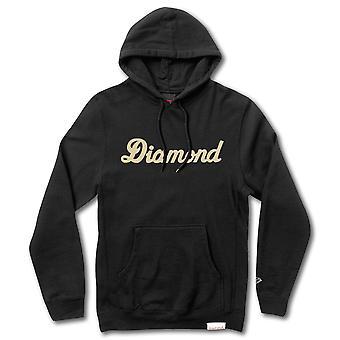 Diamond Supply Co City Skript Pullover Hoodie schwarz