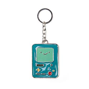 Adventure Time Keyring Keychain Beemo new Official Blue Metal