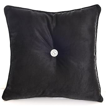 Chenille Square Diamante Filled Scatter Cushions Machine Washable
