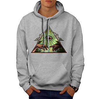 Famous Art Touch Men GreyHoodie | Wellcoda