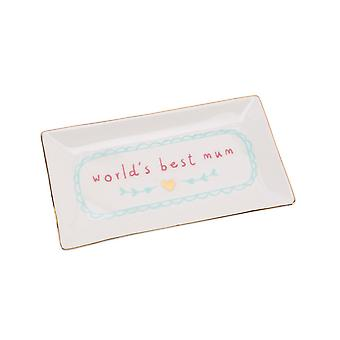 CGB Giftware Worlds Best Mum Rectangular Plate