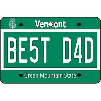Vermont - bästa pappa registreringsskylt bil luftfräschare