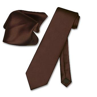 Vesuvio Napoli Solid NeckTie & Handkerchief Men's Neck Tie Set