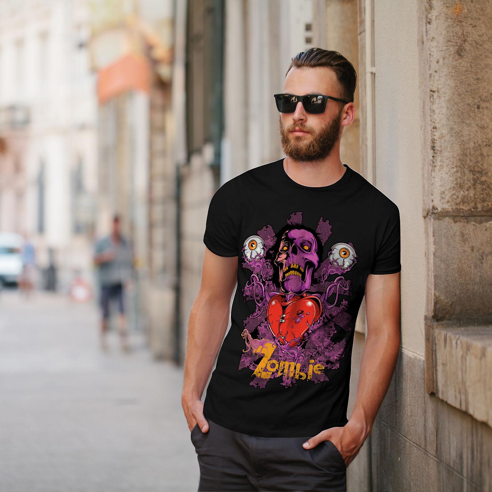 Badass coeur oeil Zombie BlackT-chemise homme | Wellcoda