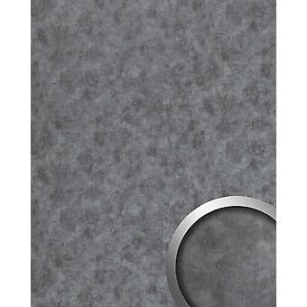 Wall Panel metal optics WallFace 20190 OXIDIZED wall tiling in the rust-vintage look and with metallic accents self-adhesive Titanium Grey 2.6 m2