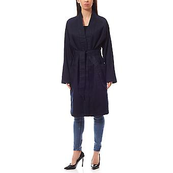 ADPT. Kamil coat ladies trench coat Blau denim