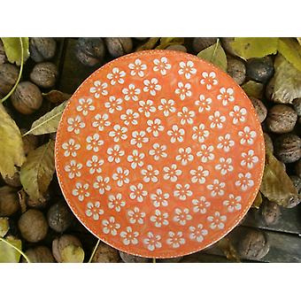 Breakfast plate, ø 22 cm, Bolesławiec orange, BSN m-4228